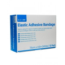 Blue Dot Elastic Adhesive Bandage 7.5cm x 4.5m (EAB) Box of 12