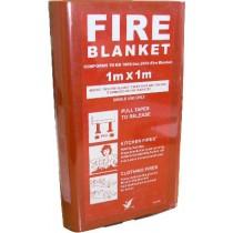 Fire Blanket Fibresafe in Hard Case 1m x 1m