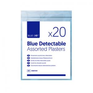 Blue Detectable Washproof Plasters (Bag of 20)