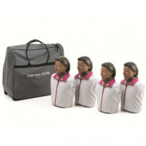 Laerdal Little Anne QCPR Dark Training Manikin 4 Pack