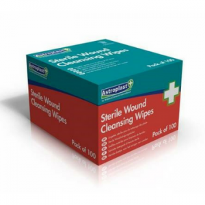 Alcohol Free Sterile Wound Cleansing Wipes Sachets (100) Box