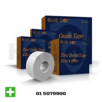 Blue Dot Zinc Oxide Tape 2.5cm x 10m