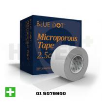 Blue Dot Microporous Tape Boxed 2.5cm x 5m