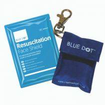 Blue Dot Keyring Pouch & Face Shield