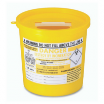 BioSafe Biohazard 2.5 Litre Sharps Disposal Container