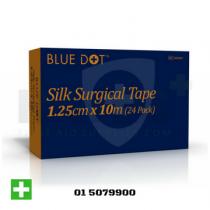 Blue Dot Silk Surgical Tape 1.25cm x 10m Single