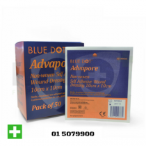 Advapore Adhesive Wound Dressing 10cm x 10cm Box of 50