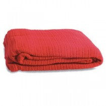 Ambulance Style (Red) 100% Cotton Cellular Blanket