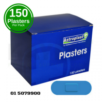 Blue Detectable Assorted Washproof Plasters (150) Box