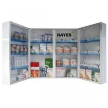 Metal First Aid Cabinet Double Door Fully Shelved