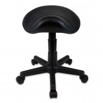 Gas Lift Stool Saddle Black Padded Seat