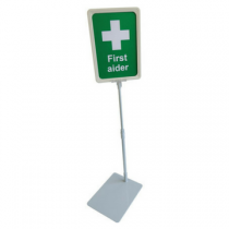 Workplace First Aider Flag & Desk Sign